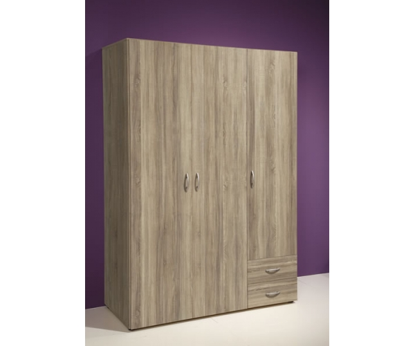 58 123 66 kleiderschrank stauraumschrank base eiche s gerau nb ca 120 cm breit ebay. Black Bedroom Furniture Sets. Home Design Ideas