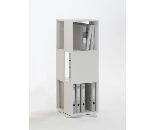 b ro ordner regal drehregal tower weiss aktenregal neu ebay. Black Bedroom Furniture Sets. Home Design Ideas