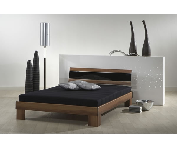 futonbett jugendbett kinderbett bett 140 x 200 cm nussbaum rost matratze ebay. Black Bedroom Furniture Sets. Home Design Ideas