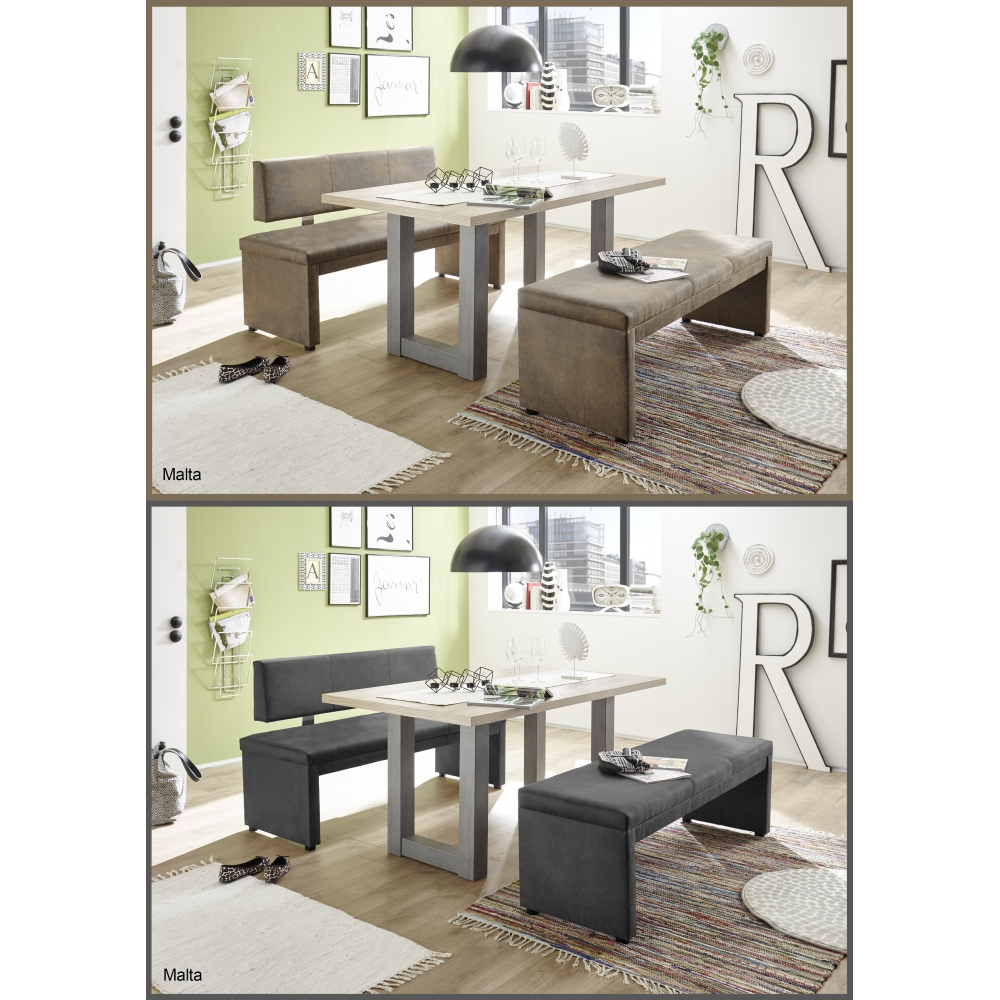 bank sitzbank k chenbank tischgruppe mit r ckenlehne in vintage braun 150 cm ebay. Black Bedroom Furniture Sets. Home Design Ideas