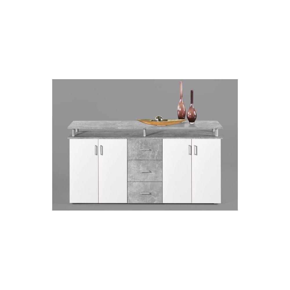 lift beton grau t ren wei kommode sideboard beistellkommode 180 cm ebay. Black Bedroom Furniture Sets. Home Design Ideas