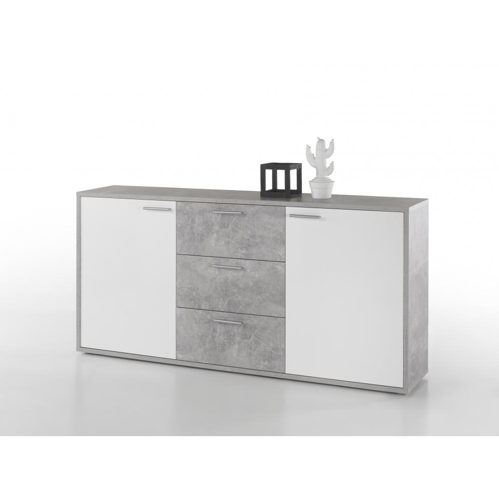 Liebenswert Weisses Sideboard Dekoration Von Mountain Beton Grau / Hg Weiß Highboard