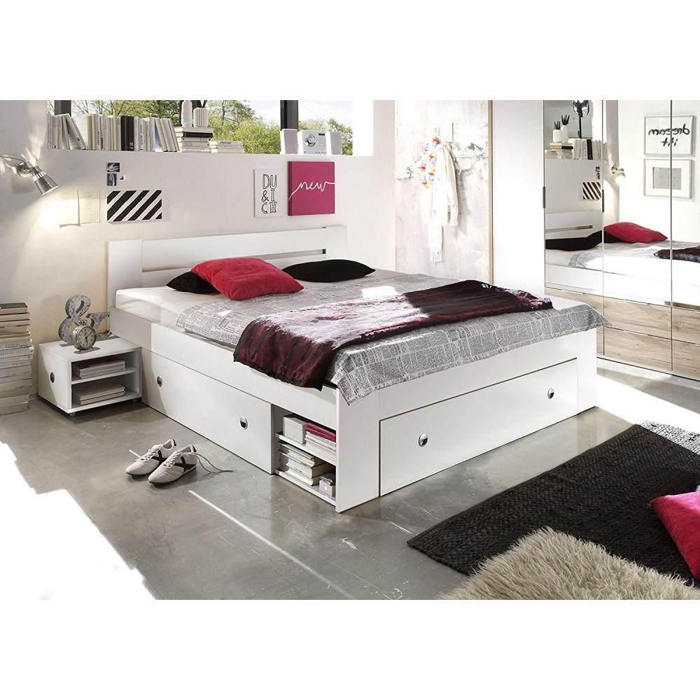Bett jugendbett einzelbett doppelbett g stebett schubladen for Jugendzimmer mit gastebett