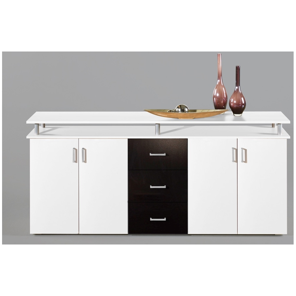 kommode sideboard beistellkommode lift wei schwarz ca 180 cm breit ebay. Black Bedroom Furniture Sets. Home Design Ideas