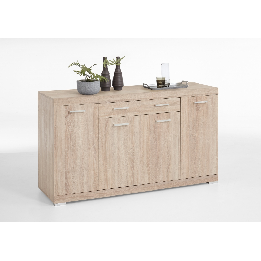 kommode beistellkommode sideboard bristol alteiche edelglanz wei 50 cm tiefe ebay. Black Bedroom Furniture Sets. Home Design Ideas