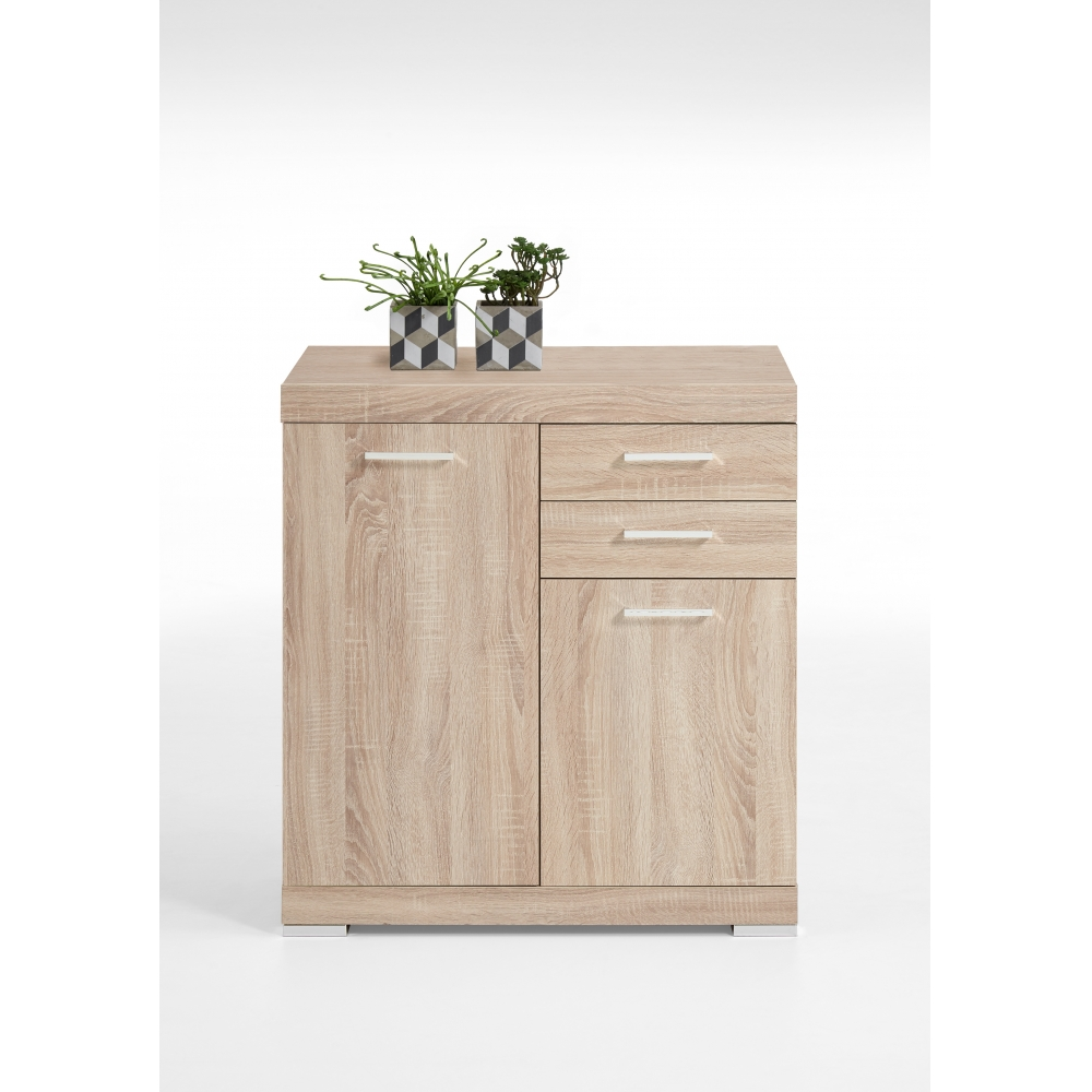 kommode beistellkommode sideboard 50 cm tiefe bristol 2 xl eiche s gerau fmd ebay. Black Bedroom Furniture Sets. Home Design Ideas