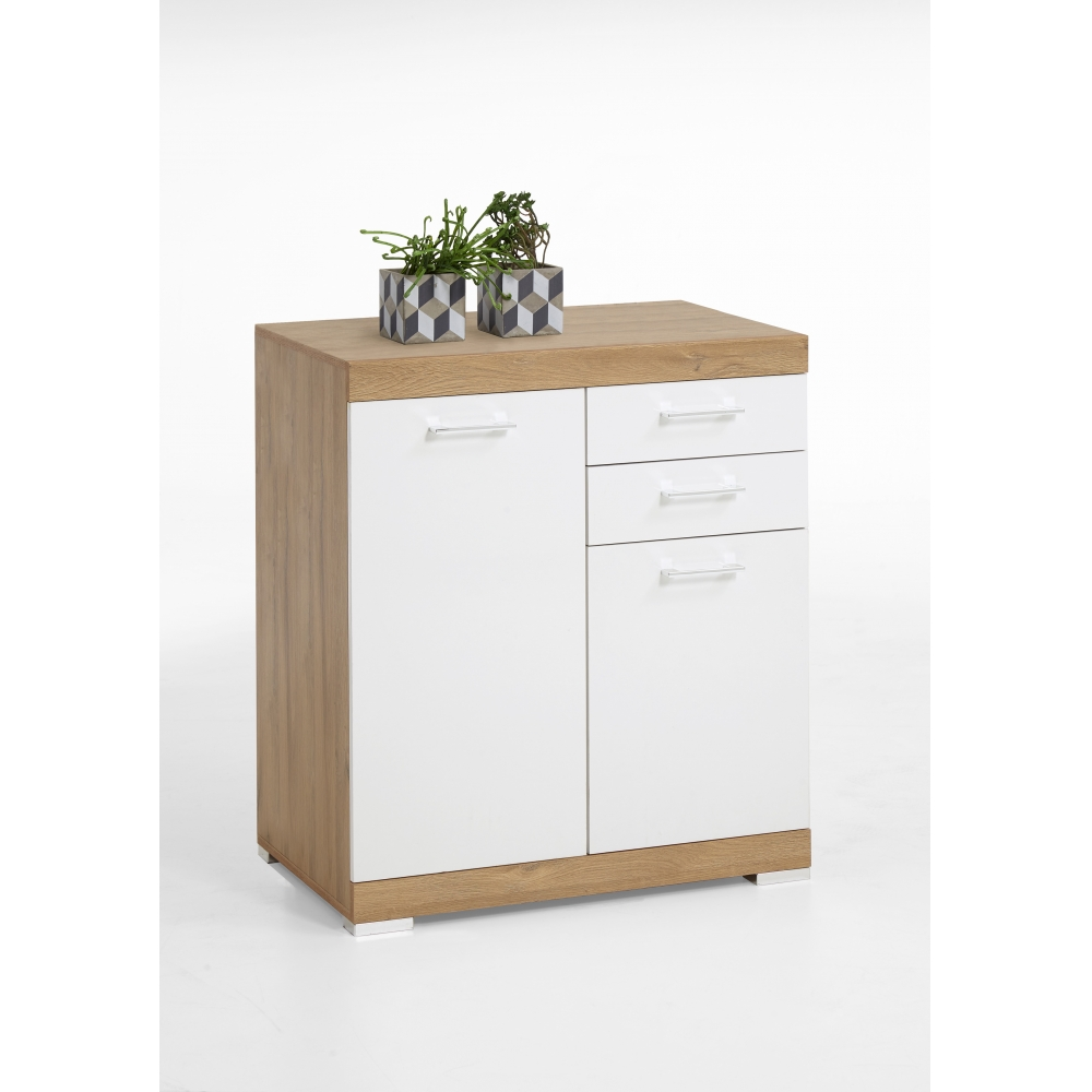 kommode beistellkommode sideboard 50 cm tiefe bristol 2 xl eiche s gerau fmd ebay. Black Bedroom Furniture Sets. Home Design Ideas