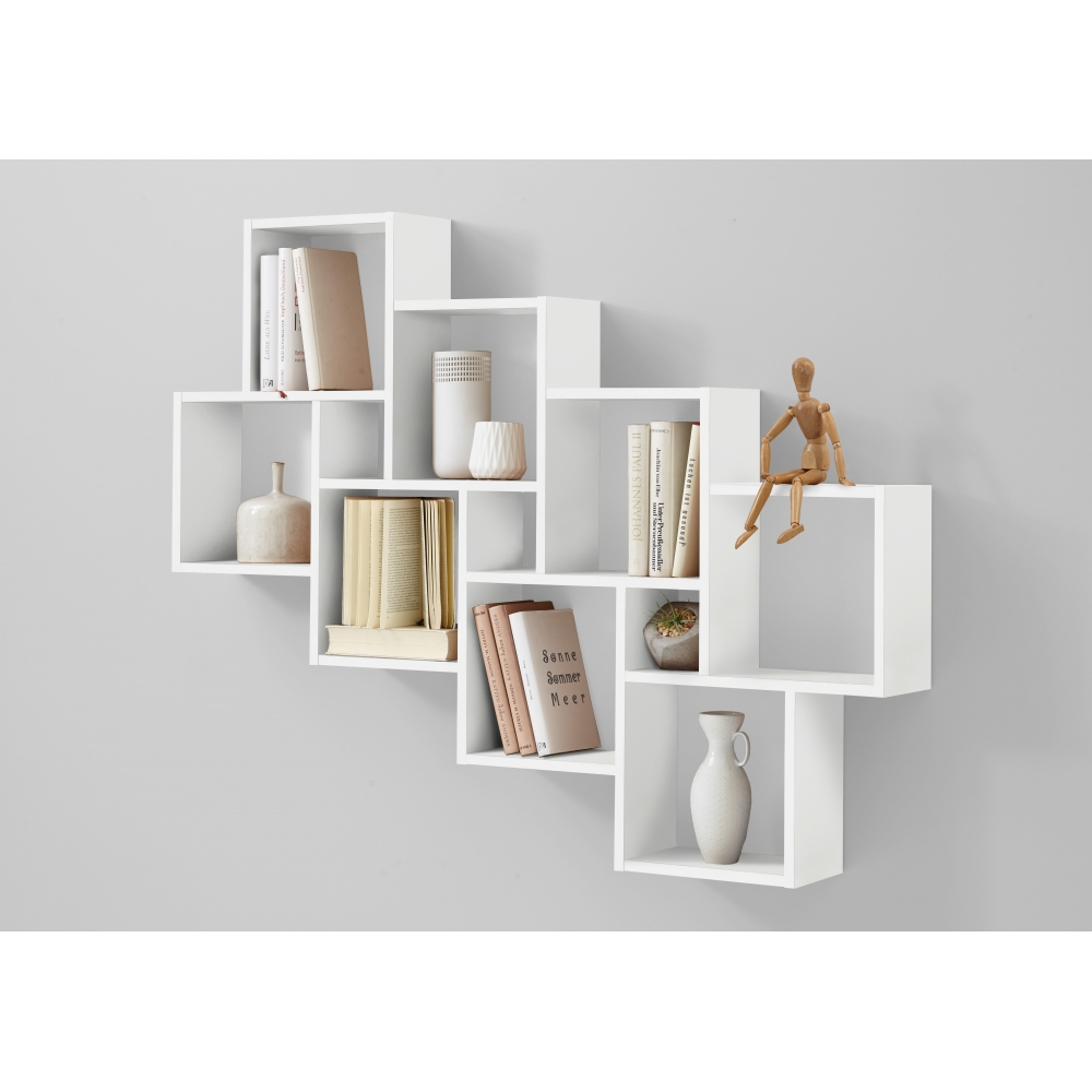 wandregal stufenregal h ngeregal wandboard regal laurio iii eiche s gerau fmd ebay. Black Bedroom Furniture Sets. Home Design Ideas