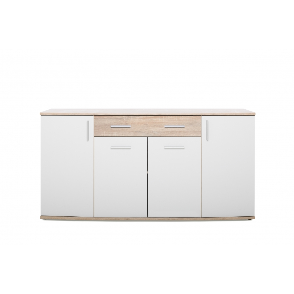 kommode beistellkommode sideboard tiefe 45 cm rondo ii eiche s gerau wei ebay. Black Bedroom Furniture Sets. Home Design Ideas