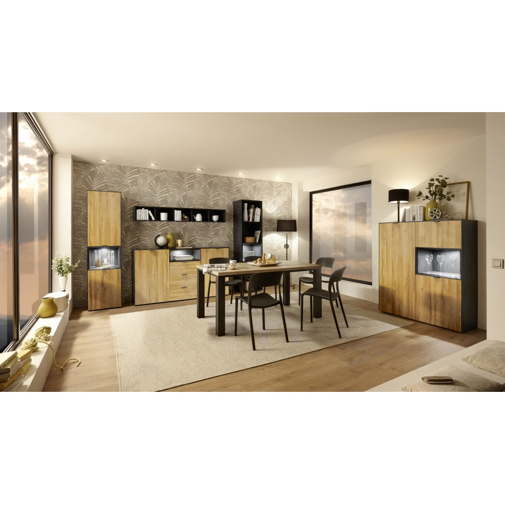 DALLAS Speisezimmer Esszimmer Wohnwand Anbauwand Wohnzimmerschrank