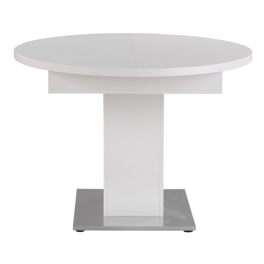 Tisch rund weiss esszimmertisch k chentisch speisezimmer ausziehbar 144 cm ebay - Esszimmertisch rund ausziehbar ...