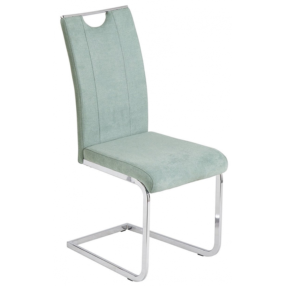 Stuhl Schwingstuhl Küchenstuhl Esszimmerstuhl Stoff Jenny Mint
