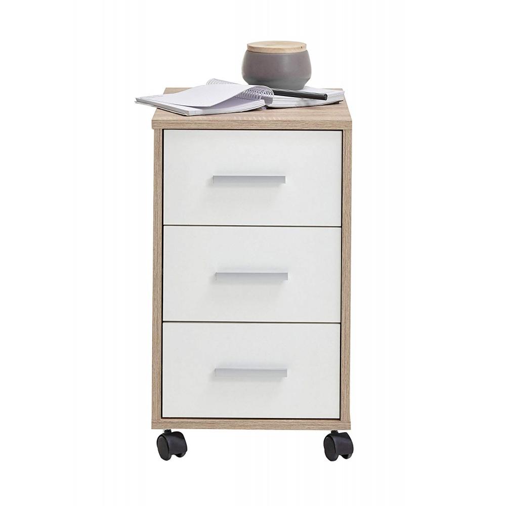 Rollcontainer Bürocontainer Druckerwagen Beistellkommode Nachtkommode WIEK weiß