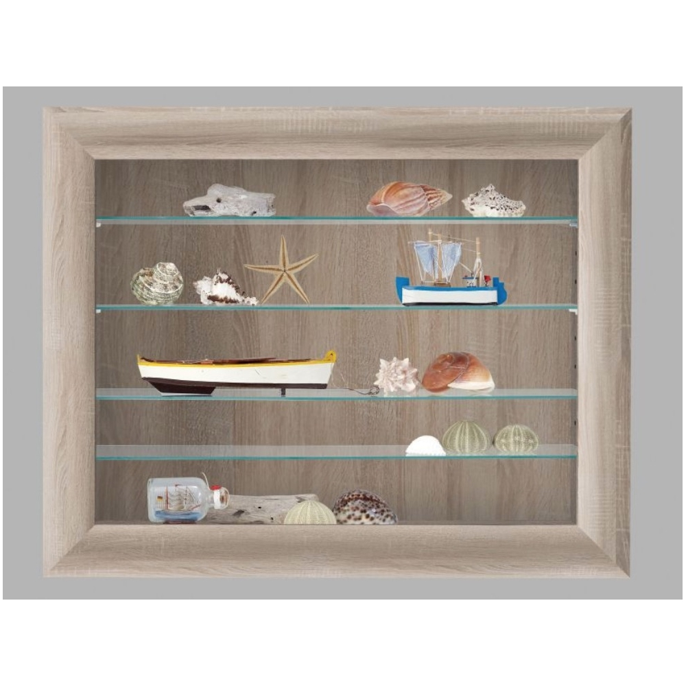 vitrine h ngevitrine sammlervitrine glasvitrine bora eiche. Black Bedroom Furniture Sets. Home Design Ideas