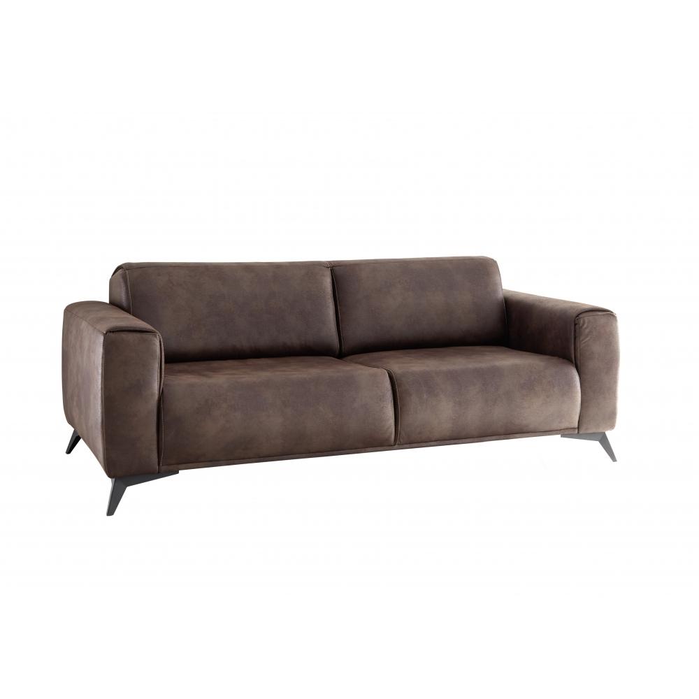 Details zu Sitzsofa Schlafsofa Lounge Sofa Wohnzimmer PUEBLO 3-S Vintage  braun ca. 215 cm