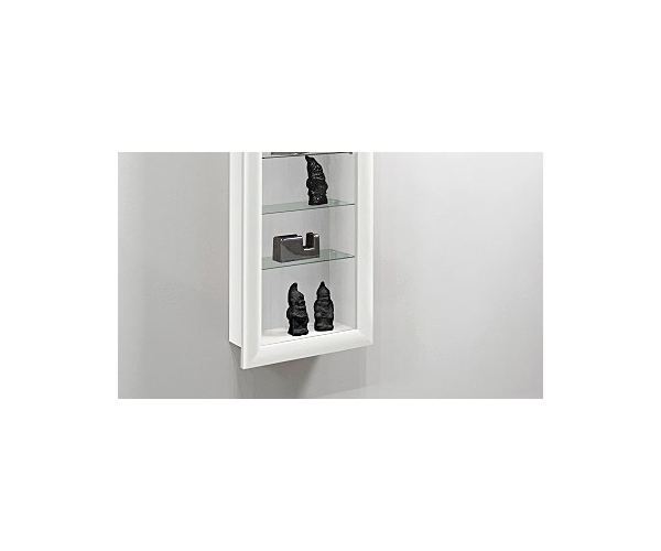 h ngevitrine vitrine vitrinenschrank sammlervitrine bora 9 in weiss ebay. Black Bedroom Furniture Sets. Home Design Ideas