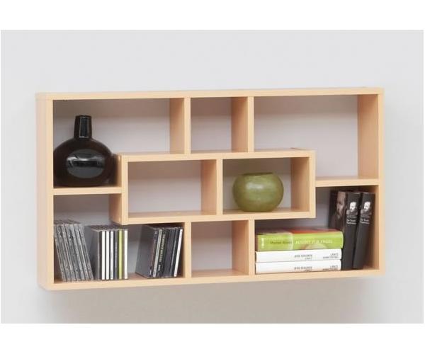 lasse wandregal h ngeregal wandboard cd regal fmd weiss. Black Bedroom Furniture Sets. Home Design Ideas