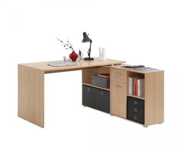 Lex buche schreibtisch b rotisch winkelkombination for Schreibtisch winkelkombination buche