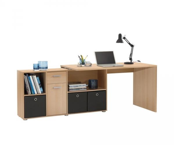 Schreibtisch pc tisch winkelschreibtisch eckschreibtisch for Schreibtisch edelbuche