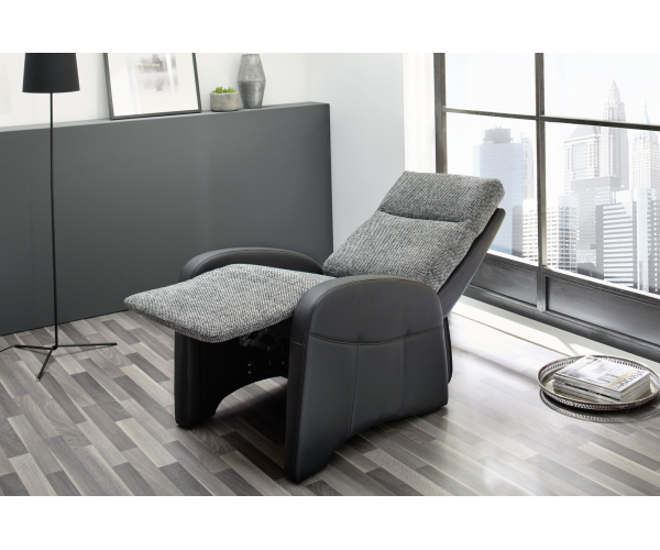 polstersessel tv sessel fernsehsessel relaxsessel mit funktion schwarz grau ebay. Black Bedroom Furniture Sets. Home Design Ideas