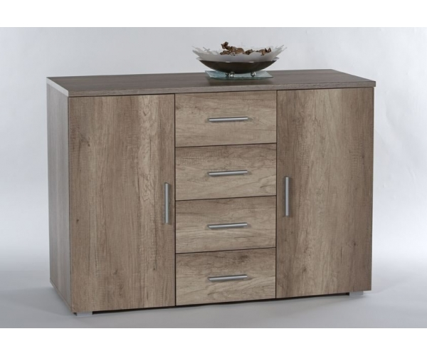 Kommode sideboard stauraumkommode monument eiche for Kommode 120 breit 50 tief