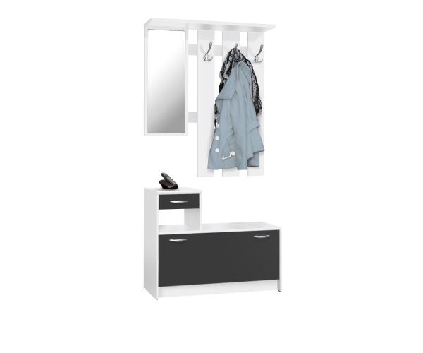 Rudolf weiss schwarz garderobe diele garderobenschrank for Garderobe diele