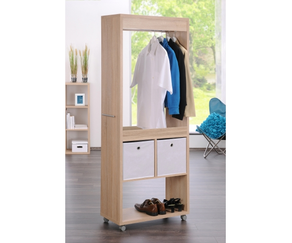 max weiss garderobe rollgarderobe kleiderst nder diele schuhregal regal rollen ebay. Black Bedroom Furniture Sets. Home Design Ideas