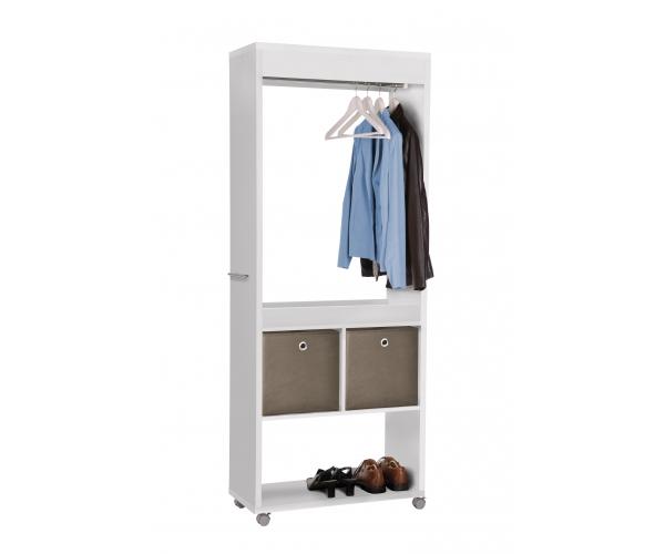 garderobe rollgarderobe kleiderst nder diele schuhregal. Black Bedroom Furniture Sets. Home Design Ideas