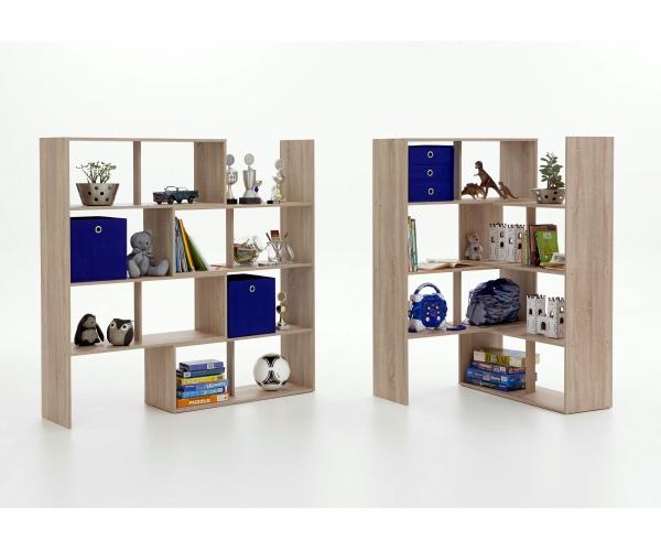 stretch eiche s gerau raumteiler regal stauraumregal eckregal winkelregal fmd ebay. Black Bedroom Furniture Sets. Home Design Ideas
