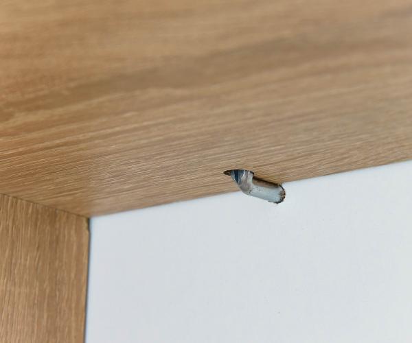 wandregal eiche s gerau dekor kante weiss 60 cm breit 25 cm tief. Black Bedroom Furniture Sets. Home Design Ideas