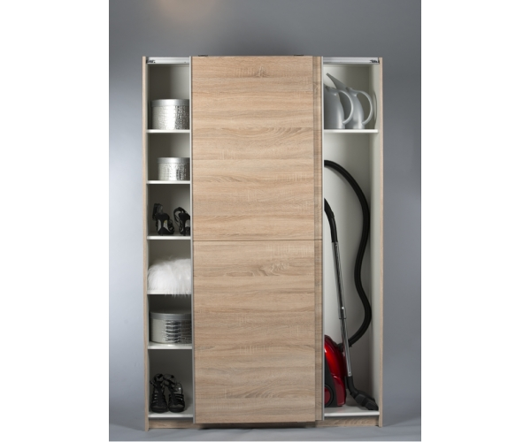 schuhschrank stauraumschrank schiebet renschrank eiche s gerau nb ca 125 cm ebay. Black Bedroom Furniture Sets. Home Design Ideas
