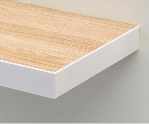 steckboard wandboard h ngeregal wandregal eiche s gerau dekor weiss 70 cm ebay. Black Bedroom Furniture Sets. Home Design Ideas