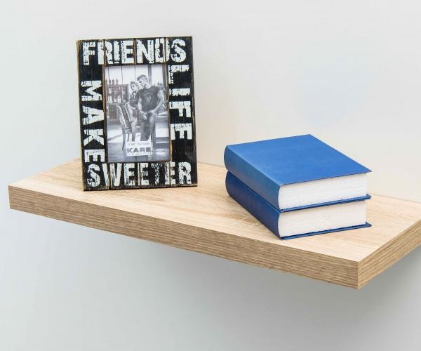 steckboard wandboard h ngeregal wandregal regal eiche s gerau dekor 40 cm. Black Bedroom Furniture Sets. Home Design Ideas