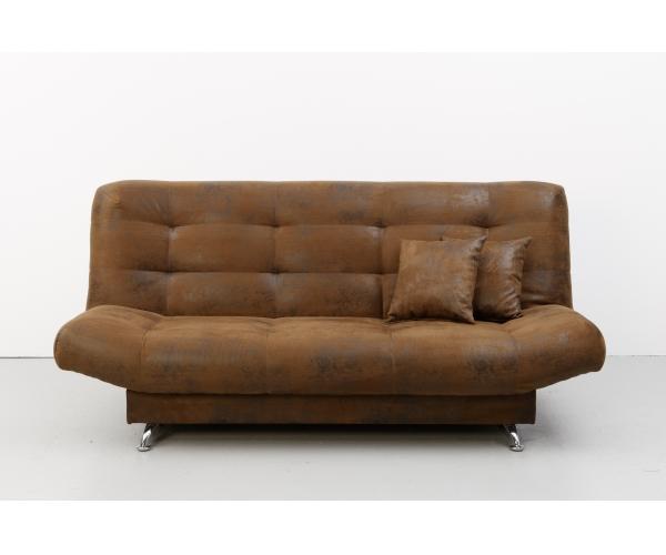 schlafsofa sofa 3 sitzer bettsofa couch mit bettfunktion viola microfaser braun ebay. Black Bedroom Furniture Sets. Home Design Ideas