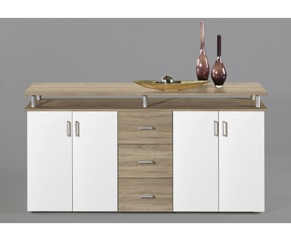 highboard kommode sideboard eiche s gerau dekor wei lift ca 180 cm breit ebay. Black Bedroom Furniture Sets. Home Design Ideas