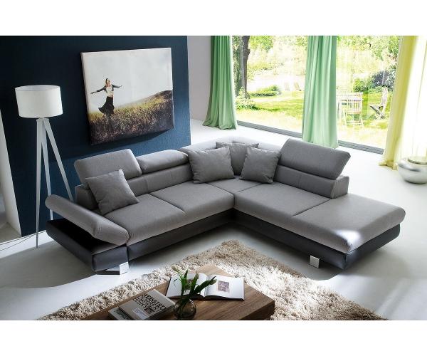 couchgarnitur wohnlandschaft sofa wohnzimmercouch 260 x 236 cm sun grau ebay. Black Bedroom Furniture Sets. Home Design Ideas