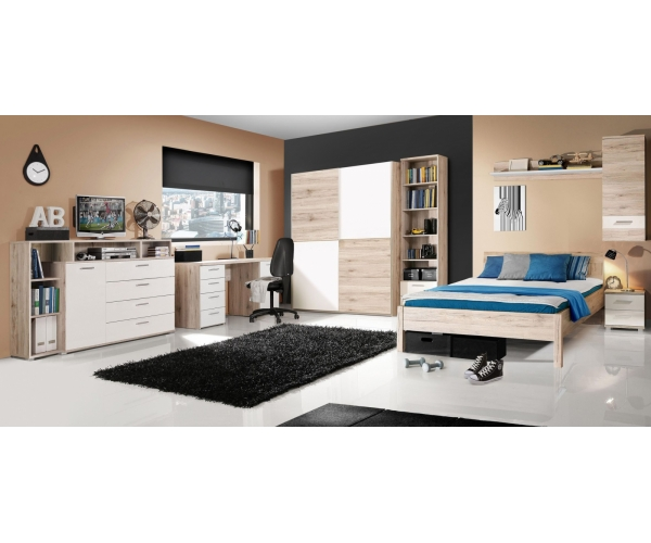 schiebet renschrank schwebet renschrank kleiderschrank sandeiche wei 150 cm 5904767999100 ebay. Black Bedroom Furniture Sets. Home Design Ideas