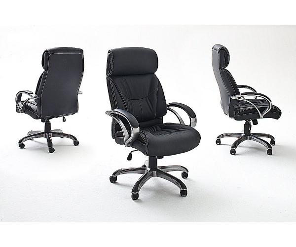 ben schwarz drehstuhl chefsessel b rostuhl kunstleder bis 150 kg belastbar ebay. Black Bedroom Furniture Sets. Home Design Ideas