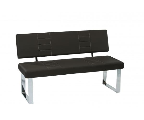 sitzbank bank sitzgruppe esszimmerbank mit lehne ca 140 cm barbara schwarz ebay. Black Bedroom Furniture Sets. Home Design Ideas