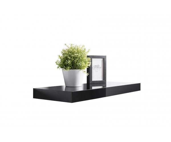 steckboard wandboard h ngeregal wandregal schwarz hochglanz lackiert 60 cm tuna ebay. Black Bedroom Furniture Sets. Home Design Ideas