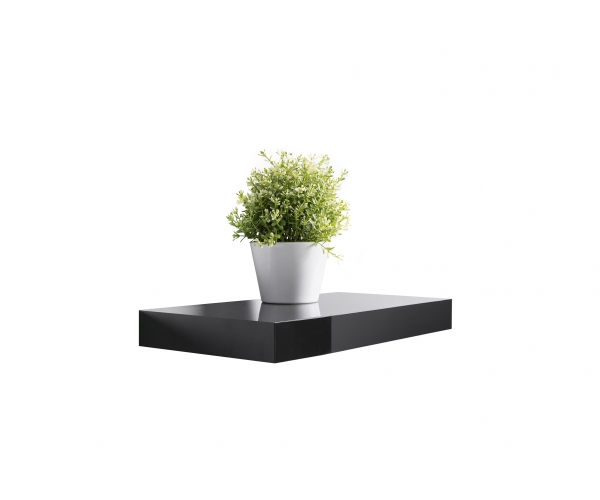 steckboard wandboard h ngeregal wandregal schwarz hochglanz lackiert 30 cm ebay. Black Bedroom Furniture Sets. Home Design Ideas