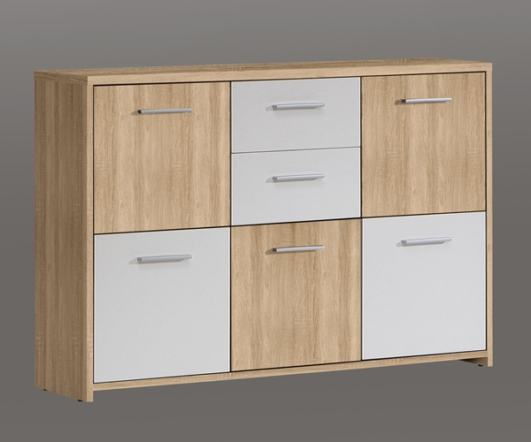 kommode stauraumschrank schuhschrank sideboard eiche s gerau nb ca 114 cm. Black Bedroom Furniture Sets. Home Design Ideas