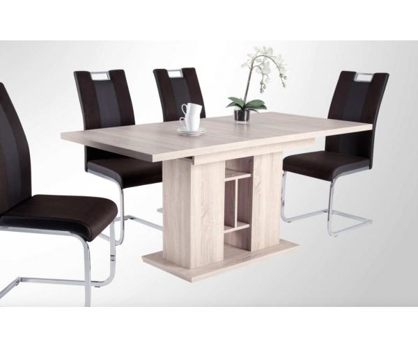 esszimmertisch k chentisch esstisch tisch eiche 120 x 80 cm ausziehb 160 cm ebay. Black Bedroom Furniture Sets. Home Design Ideas
