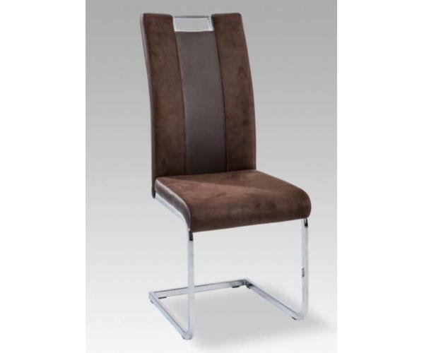 braun esszimmerstuhl k chenstuhl stuhl schwingstuhl freischwinger kunstleder ebay. Black Bedroom Furniture Sets. Home Design Ideas