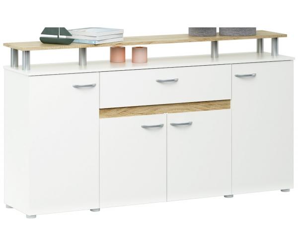 sideboard kommode highboard ca 156 cm breit weiss eiche s gerau nb ebay. Black Bedroom Furniture Sets. Home Design Ideas