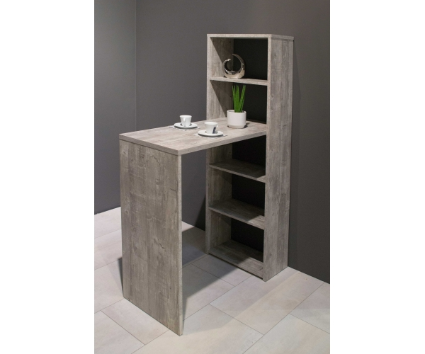 tresentisch mit regal theke bar bartisch ca 90 x 92 148 x 45 cm beton grau ebay. Black Bedroom Furniture Sets. Home Design Ideas