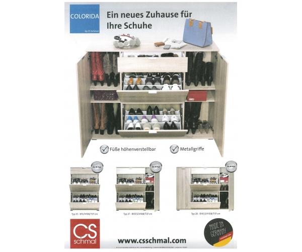 colorida cs schmal weiss schuhschrank schuhkipper schuhkommode kommode ca 72 cm 4003944109385. Black Bedroom Furniture Sets. Home Design Ideas