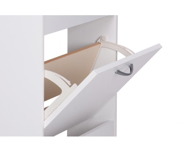 wei schuhkipper schuhschrank schuhregal schrank 5 klappen ca 58 x 169 x 17 cm ebay. Black Bedroom Furniture Sets. Home Design Ideas