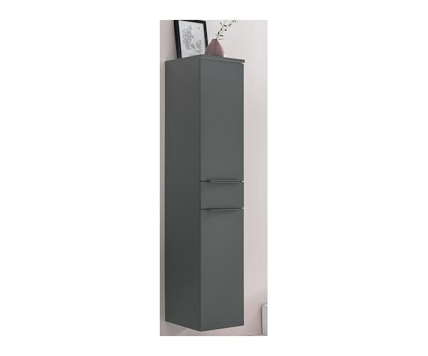 134498 grau hochschrank badezimmerschrank seitenschrank h ngend stehend ebay. Black Bedroom Furniture Sets. Home Design Ideas