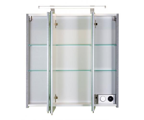 quadra grau spiegelschrank badspiegel wandspiegel spiegel schalter steckdose ebay. Black Bedroom Furniture Sets. Home Design Ideas